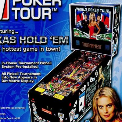 stern, world poker tour, pinball, sales, price, date, city, condition, auction, ebay, private sale, retail sale, pinball machine, pinball price