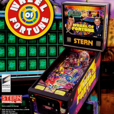 stern, wheel Of fortune, pinball, sales, price, date, city, condition, auction, ebay, private sale, retail sale, pinball machine, pinball price