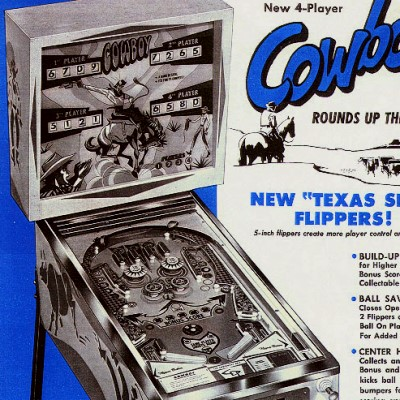 cowboy, all stars, pinball, sales, price, date, city, condition, auction, ebay, private sale, retail sale, pinball machine, pinball price