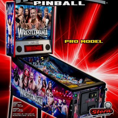 stern, wrestlemania, pinball, sales, price, date, city, condition, auction, ebay, private sale, retail sale, pinball machine, pinball price