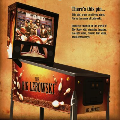 dutch pinball, the big lebowski, pinball, sales, price, date, city, condition, auction, ebay, private sale, retail sale, pinball machine, pinball price