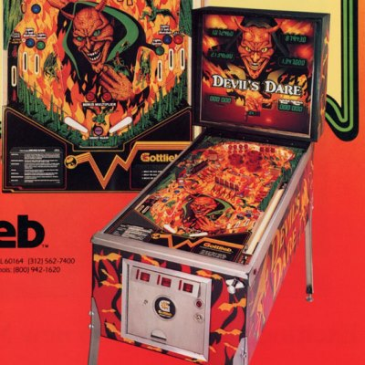 gottlieb, devils dare, pinball, sales, price, date, city, condition, auction, ebay, private sale, retail sale, pinball machine, pinball price