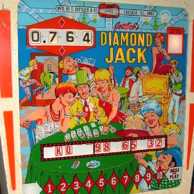 gottlieb, diamond jack, pinball, sales, price, date, city, condition, auction, ebay, private sale, retail sale, pinball machine, pinball price