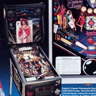 gottlieb, diamond lady, pinball, sales, price, date, city, condition, auction, ebay, private sale, retail sale, pinball machine, pinball price