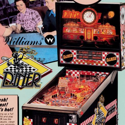 williams, diner, pinball, sales, price, date, city, condition, auction, ebay, private sale, retail sale, pinball machine, pinball price