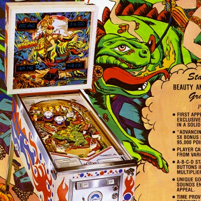 gottlieb, dragon, pinball, sales, price, date, city, condition, auction, ebay, private sale, retail sale, pinball machine, pinball price