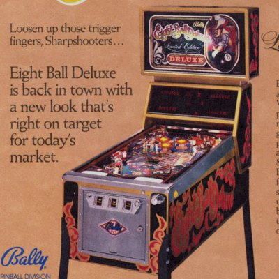 bally, eight ball deluxe, pinball, sales, price, date, city, condition, auction, ebay, private sale, retail sale, pinball machine, pinball price