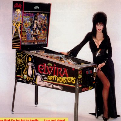 bally, elvira and the party monsters, pinball, sales, price, date, city, condition, auction, ebay, private sale, retail sale, pinball machine, pinball price