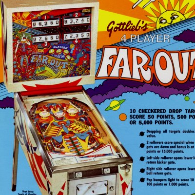 gottlieb, far out, pinball, sales, price, date, city, condition, auction, ebay, private sale, retail sale, pinball machine, pinball price
