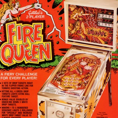 gottlieb, fire queen, pinball, sales, price, date, city, condition, auction, ebay, private sale, retail sale, pinball machine, pinball price