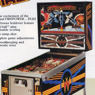 williams, firepower II, pinball, sales, price, date, city, condition, auction, ebay, private sale, retail sale, pinball machine, pinball price