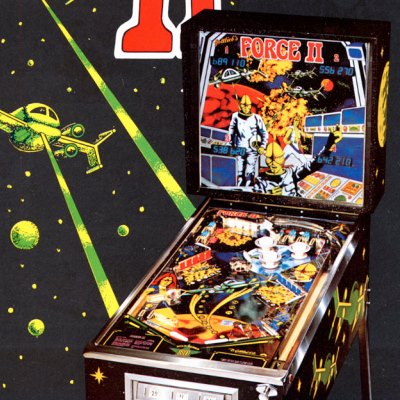 gottlieb, force II, pinball, sales, price, date, city, condition, auction, ebay, private sale, retail sale, pinball machine, pinball price