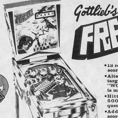 gottlieb, free fall, pinball, sales, price, date, city, condition, auction, ebay, private sale, retail sale, pinball machine, pinball price