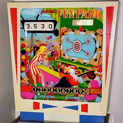 gottlieb, fun park, pinball, sales, price, date, city, condition, auction, ebay, private sale, retail sale, pinball machine, pinball price