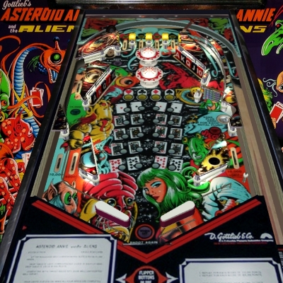 gottlieb, asteroid annie and the aliens, pinball, sales, price, date, city, condition, auction, ebay, private sale, retail sale, pinball machine, pinball price
